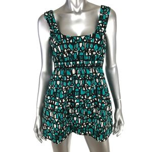 DKNY Size 6 Tank Top Multicolor Print Scoop Neck